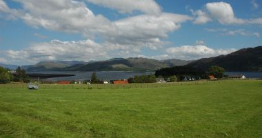 The superb view from the front of Bruaich Cottage, Lochcarron.