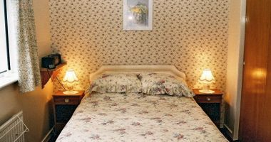 The double bedroom in Strathardle, Croft Road, Lochcarron.